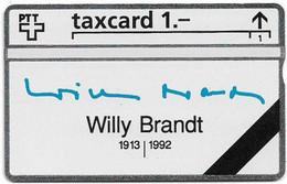 Switzerland - Swisscom (L&G) - K Series - K-93/9B - Willy Brandt 1913-1992 - 301L - 01.1993, 1Fr, 5.000ex, Mint - Schweiz