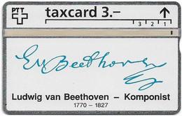 Switzerland - Swisscom (L&G) - K Series - K-93/9E - Ludwig Van Beethoven 1770-1827 - 344L - 04.1993, 3Fr, 2.500ex, Used - Schweiz