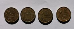 4 Pièces De 10 Francs 1951B-1951-1953-1955 Guiraud - K. 10 Francs
