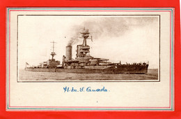HMS  CANADA  BATTLESHIP   WORLD WAR 1. NAVY NAVAL - Guerra