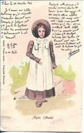 AYAS - AOSTA - Fille - Demoiselle - Circulé En 1898 - Aosta