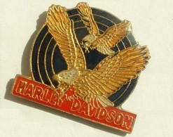 TT12 21 Pin's Moto Harley Davidson Aigle Eagle Achat Immédiat - Motorfietsen