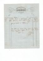 9 Factures De L'horlogerie-Bijouterie-Orfèvrerie   LUCAS. Place De La Halle SEDAN Années 1859 / 60 / 61 ....... - 1800 – 1899