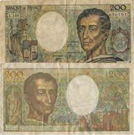 1992-billet De 200 Francs - 200 F 1981-1994 ''Montesquieu''