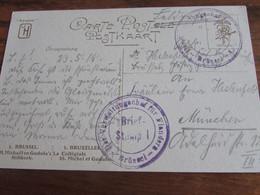 14-18: Carte Fantaisie En Feldpost Oblitérée DER VERWALTUNGSCHEF FUR FLANDERS BRUSSEL - Andere Brieven