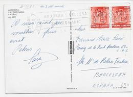 3561  Postal Andorra La Vella 1983, Slogan  Andorra Belleza Del Romanic, - Briefe U. Dokumente
