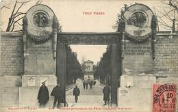 PARIS 75020 TOUT PARIS ENTREE PRINCIPALE DU PERE LACHAISE - Distretto: 20