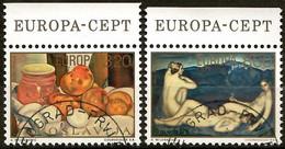 Jugoslawien 1975  Mi.Nr. 1598 / 1599 , EUROPA CEPT Gemälde - Gestempelt / Fine Used / (o) - 1975