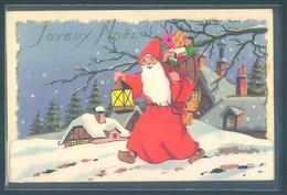 Pere Noel Santa Claus Christmas Carte Relief Petit Système - Santa Claus