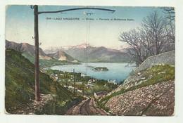 STRESA FERROVIA AL MOTTARONE KULM  - VIAGGIATA 1915  FP - Verbania