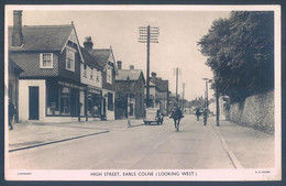 Essex High Street EARLS COLNE Looking West - Unclassified