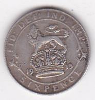 Grande Bretagne. 6 Pence 1915. George V, En Argent - H. 6 Pence