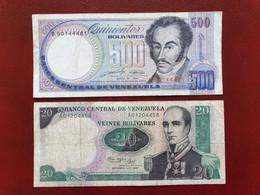 Lot 2 Billets Circulés Vénézuela - Venezuela
