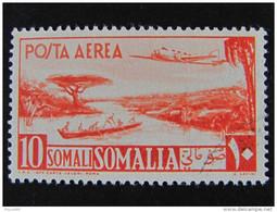 """ITALIA Somalia AFIS Aerea-1950-51-""""Aereo E Veduta"""" S. 10 US° (descrizione) - Somalie (AFIS)"""