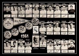 PHOTO RENFORCÉE,CE N'EST PAS CARTE, EQUIPE REAL MADRID1961 - Fussball