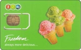 Thailand  Phonecard GSM Card AIS 12call Mint Eiscream - Thailand