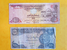 Lot 2 Billets Circulés Irak Et Emirats - Irak