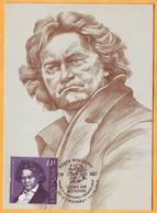 2020  Moldova Moldavie  Maxicard  250 Ludwig Van Beethoven Music, Violin, Piano, Symphony Germany Austria - Music