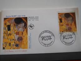 FDC Gustave Klimt - Le Baiser - Premier Jour, Paris (08/02/2002) - 2000-2009