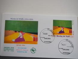 FDC Nicolas De Staël - Sicile - Premier Jour, Grenoble (05/03/2005) - 2000-2009