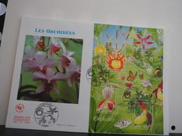 FDC Série Orchidées - Premier Jour, Paris (11/03/2005), GF - 2000-2009