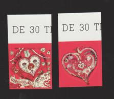 """FRANCE / 2013 / Y&T N° AA 787/788 ** : """"Cœurs Hermès"""" (2 TP Adhésifs De Feuille) X 1 Paire (tous BdF Haut) - Luchtpost"""