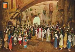 (MONT188) MONTSERRAT. LA PASSIO D'OLESA. ENTRADA A JERSALEM . THEATRE ... UNUSED - Barcelona