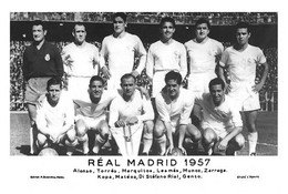 PHOTO RENFORCÉE, CE N'EST PAS CARTE, EQUIPE - REAL MADRID 1957 - Fussball