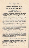 Neerpelt, Zonhoven: 1952, Jan Hermans, Fransen - Devotion Images