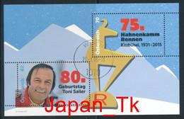ÖSTERREICH Mi. Nr. Block 84 Skisport – 80. Geburtstag Von Toni Sailer - Used - Blocks & Kleinbögen