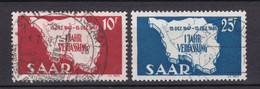 Saarland - 1948 - Michel Nr. 260/261 - Nr. 260 BPP Gepr. - Gestempelt - Used Stamps