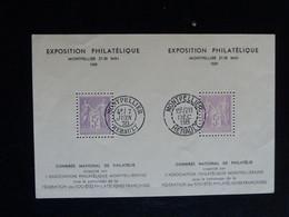 D3 - Bloc 5F Type Sage De L'Exposition Philatelique De Montpellier 27-30 Mai 1939 - MNH N** TTB - Mint/Hinged