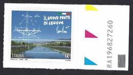 Italia 2020; Il Nuovo Ponte Di Genova, Francobollo Con Codice Alfanumerico. - Bar Codes