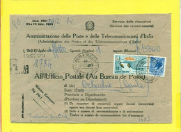 STORIA POSTALE ITALIA. - MODELLO 490 - 1946-60: Marcophilie