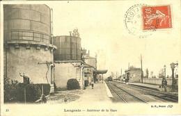 37 LANGEAIS INTERIEUR DE LA GARE AVEC LES RESERVES D EAU - Langeais