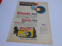 PU186 - CORECTOR BILLE - 3 Flacons Pour Effacer Les Taches Ou Erreurs De Stylo - Années 1950-60 - Advertising