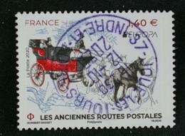 France 2020 Europa Les Anciennes Routes Postales Oblitéré - Gebraucht