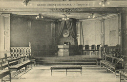 PC CPA FREEMASONRY, GRAND ORIENT DE FRANCE, TEMPLE NO3, Postcard (b14440) - Other