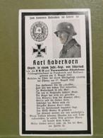 Sterbebild, WW2 Karl Haberkorn. Frankreich Und Russland - 1939-45