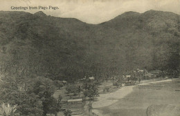 PC CPA SAMOA, PACIFIC, GREETINGS FROM PAGO PAGO, Vintage Postcard (b19477) - Samoa
