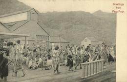 PC CPA SAMOA, PACIFIC, GREETINGS FROM PAGO PAGO, Vintage Postcard (b19479) - Samoa
