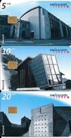 3-CARTES-PUCE-1998-SUISSE-SERIE 5/10/20CHF-BatimeNts /Ateliers-TAXCARD-UtiliséTBE - Schweiz