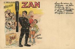 PC CPA ADVERTISING, LE MEILLEUR RÉGLISSE ZAN, VINTAGE POSTCARD (b15496) - Werbepostkarten