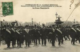 PC CPA FREEMASONRY, FUNÉRAILLES DE M. MAURICE BERTEAUX, Postcard (b14379) - Andere