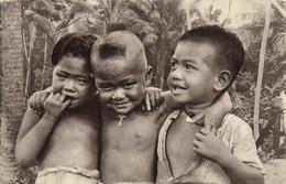 PC CPA SAMOA, PACIFIC, TROIS PETITS CHRÉTIENS, Vintage Postcard (b19452) - Samoa