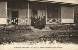 PC CPA SAMOA, PACIFIC, NOVICES INDIGÉNES ET LEUR MAITRESSE, Postcard (b19456) - Samoa