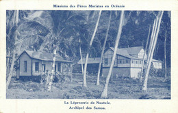 PC CPA SAMOA, PACIFIC, LA LÉPROSERIE DE NUUTELE, Vintage Postcard (b19473) - Samoa