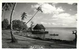 PC CPA SAMOA, PACIFIC, BEACH SCENE AND PALM TREES, Vintage Postcard (b19444) - Samoa