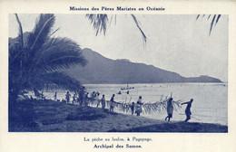 PC CPA SAMOA, PACIFIC, PÉCHE AU LAULOA, �? PAGOPAGO, Vintage Postcard (b19438) - Samoa