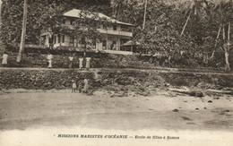 PC CPA SAMOA, PACIFIC, ECOLE DE FILLES �? SAMOA, Vintage Postcard (b19455) - Samoa